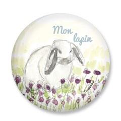 Duo badge et petit miroir lapin (en soldes prix départ 8,5€)