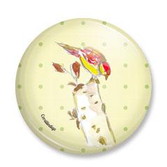 Petit miroir joli oiseau (en soldes prix départ 6,5€)
