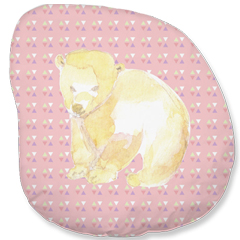 Coussin ourson rose