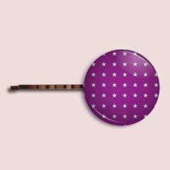 Barrette étoile violette