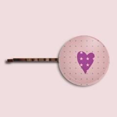 Barrette violette nude