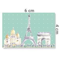 Motif à coudre Paris menthe 4x6cm