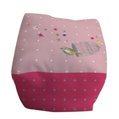 Cube tissu doux rose