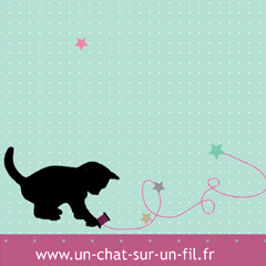 Creation De Cartes Visite Sur Mesure Format Carte Postale Pour Le E Shop Un Chat Fil Realisation Originale A Laquarelle