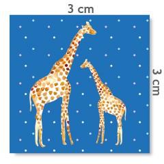 Motif à coudre girafes bleu