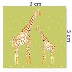Motif à coudre girafes anis