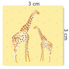 Motif à coudre girafes jaune