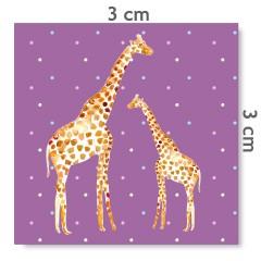 Motif à coudre girafes parme