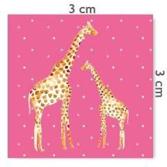 Motif à coudre girafes rose