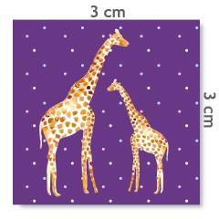 Motif à coudre girafes violet