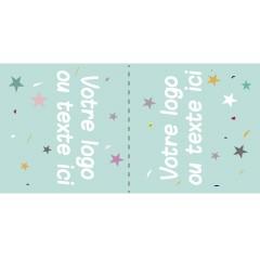 200 étiquettes à coudre personnalisées à plier en deux étoiles mint 5x3cm ou 6x2cm ou 5x2cm