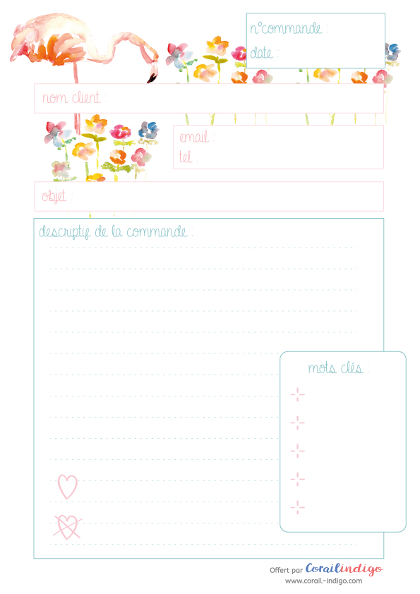 Printable-organisation-commandes-flamant-rose