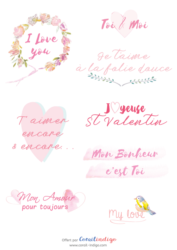 free printable des mots doux imprimer pour la st valentin. Black Bedroom Furniture Sets. Home Design Ideas
